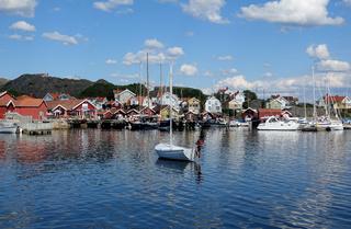 Haelleviksstrand auf der Insel Orust, Schweden