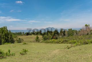 Der Pusuk Buhit ist ein Vulkan am Toba See auf Sumatra in Indonesien