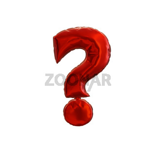 Red question mark on a white background
