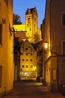 Altstadt in Füssen bei Nacht