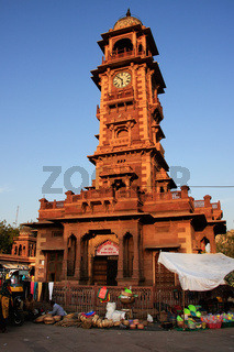 Ghanta Ghar tower, Sadar Market, Jodhpur, India