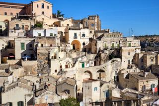 Die alten Häuser von Matera