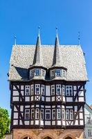 Historisches Rathaus in Alsfeld im mittelhessischen Vogelsbergkreis, Deutschland