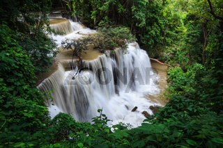 Waterfalls in tropical rain forest