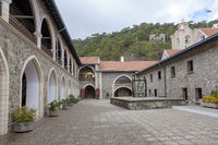 Klosterhof Kykkos Kloster, Troodos-Gebirge, Zypern