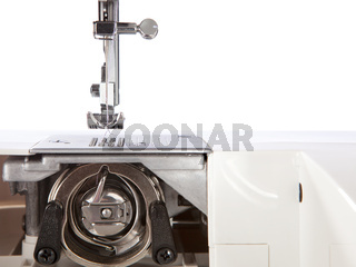 Detailed view of a sewing machine