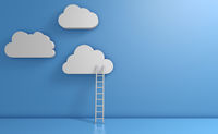 White clouds and ladder