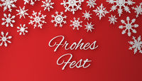 Modern Christmas background with snowflakes on red