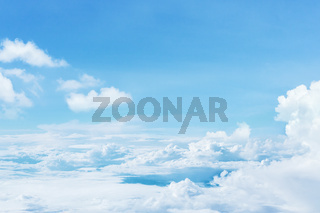 Natural blue sky with white clouds background