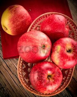 Fresh organic ripe apples