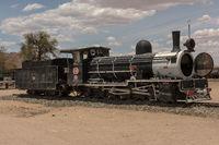 Old steam locomotive at the station of Usakos, Erongo, Namibia,