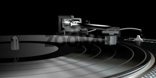 vinyl player with a vinyl disk