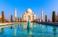Taj Mahal, a UNESCO World Heritage Site, famous landmark of Agra, India