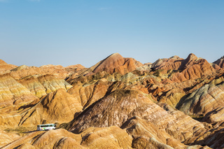 colorful hilly landscape in zhangye