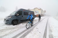 Wintereinbruch auf dem Feldberg