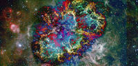 Cosmic art. Science fiction wallpaper. Elements of this image furnished by NASA