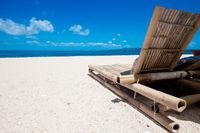 Beach chair on beach