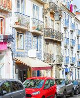 Street, cars, architecture, Lisbon, Portugal