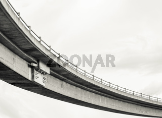 Abstract Sweeping Freeway  Overpass