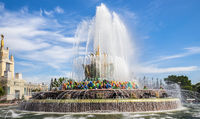 Stone Flower fountain on the Exhibition of Achievements of National Economy. Russia