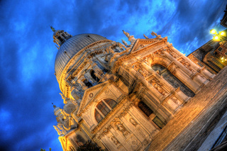 Dorsoduro at night with beautiful lights, Venice, Italy (HDR)