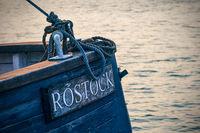 Detail eines Segelschiffes im Stadthafen von Rostock