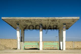 Bushaltestelle in Mazar-e-Sharif (Afghanistan)