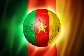 Soccer football ball with Cameroon flag