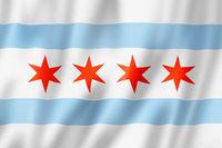 Chicago city flag, Illinois, USA