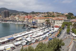 Portoferraio, Marktstände, Elba, Toskana, Italien