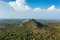 Pidurangala rock. Bird's-eye view of Pidurangala from side of Sigiriya