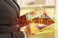 Electronic medical record, tech concept