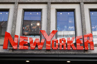 New Yorker brand and company name sign of german fashion clothing retail chain store in Hannover, Germany on March 2, 2020