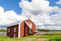 Traditional wooden Scandinavian hut