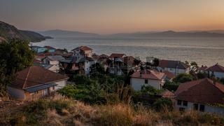 Sunset view over Radozhda on Lake Ohrid, Macedonia