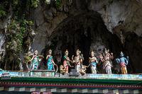 Colorful statue of Hindu God