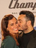 Model Jana Ina mit Ehemann Sänger Giovanni Zarrella bei Schlagerchampions 2020 am 11.01.2020 Berlin