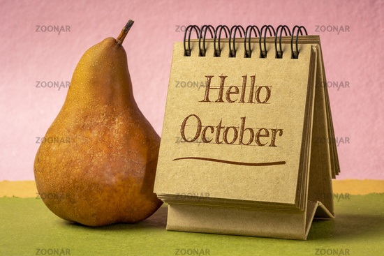 Hello October welcome note