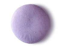 One purple macaroon top view