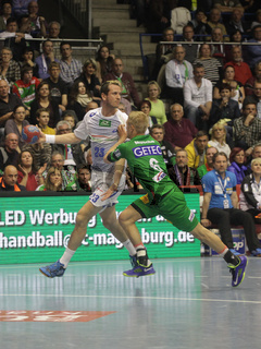 Pascal Hens HSV Handball im Spiel SC Magdeburg-HSV Handball 29.Spieltag Bundesliga Saison 13/14