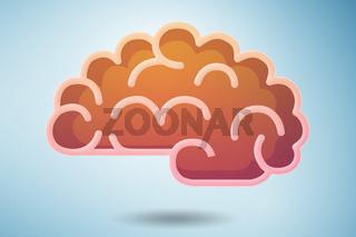 Brain model illustration - 3d rendering