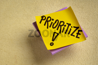 prioritize advice or reminder note