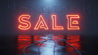 neon light sale sign