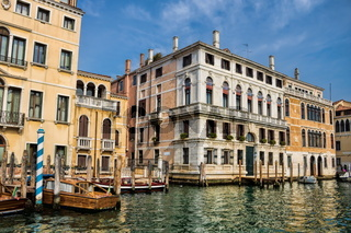 Venice, italy - 16.03.2019 - old palaces on the grand canal