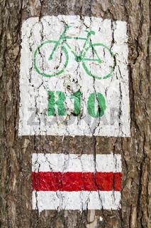 Radwanderweg-Zeichen