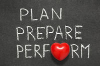 plan,prepare and perform