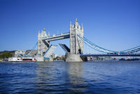 Tower Bridge with the Drawbridge raised