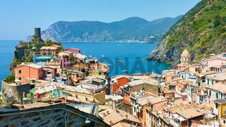 Vernazza small town by the sea in Cinque Terre