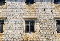 Old wall and windows