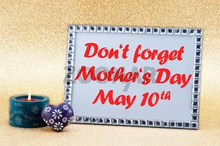 Erinnerung an den Muttertag